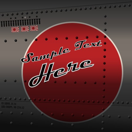 fuselage: Retro aviation, plane fuselage background Illustration