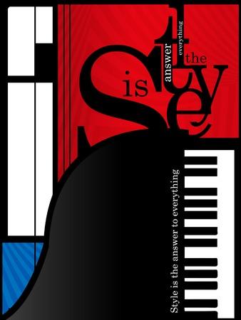 klavier: abstrakte Musik Hintergrund mit Tasten eines Klaviers auf rot