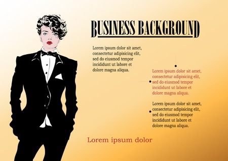 businesswoman suit: Beautiful businesswoman in a modern black suit