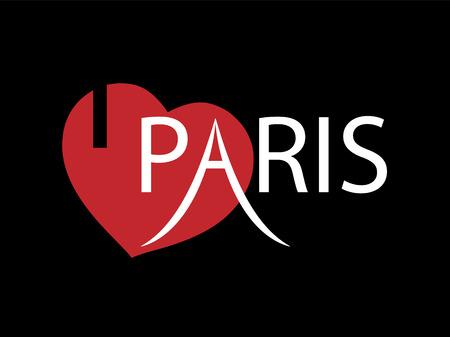 i love paris: i love Paris, font type with signs Illustration