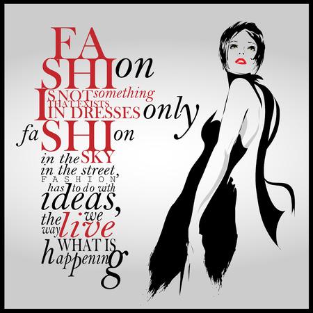 Cita de la moda con la chica moderna en un vestido. Foto de archivo - 40459476