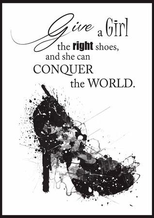 Fashion Woman shoe von Anführungszeichen. Standard-Bild - 42137738