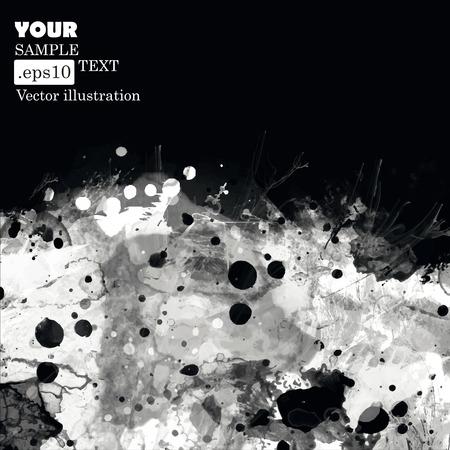 fundo grunge: Fundo preto e branco do grunge