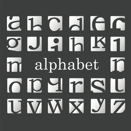 buffed: Fashion letters of the alphabeth.