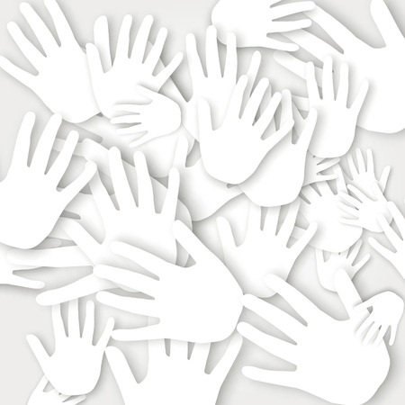 conceptual: Vector Abstract Background, concept from hands Illustration