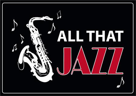 jazz club: Jazz music, poster background template. Vector graphic design.