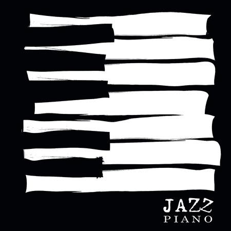 llaves: festival de música de jazz, la plantilla de fondo del cartel. Diseño del vector.