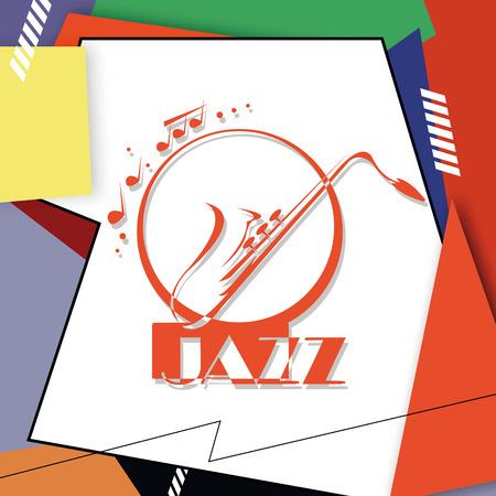 art exhibition: Jazz music, poster background template. Vector graphic design.