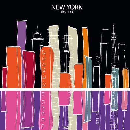 scraper: New York city. Vector illustration Illustration