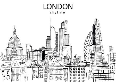 abstract london: London Skyline abstract. Vector illustration Illustration
