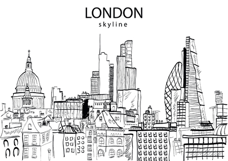 London Skyline abstract. Vector illustration Illustration