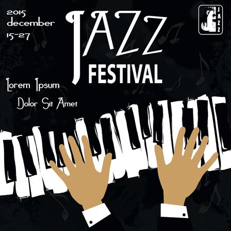live band: Retro styled Jazz festival Poster