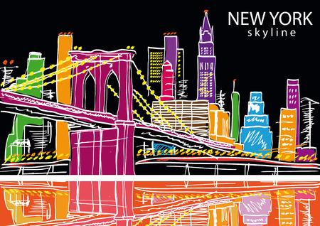 New York city. Vector illustration Vettoriali