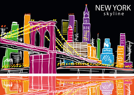 New York city. Vector illustration Illustration