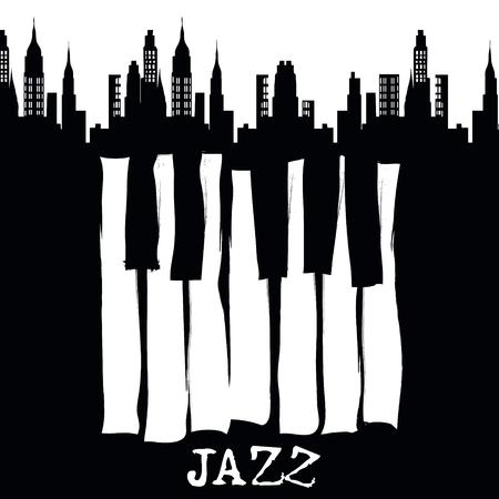 live band: Jazz music festival, poster background template. Vector design. Illustration
