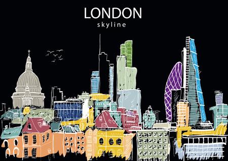 London Skyline abstract. Vector illustration Illustration
