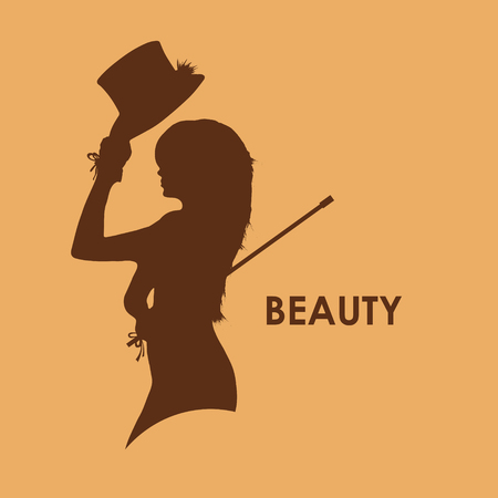 beautiful face: Fashion girl in sketch-style. Vector illustration.