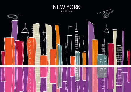 New York city. Vector illustration Illustration