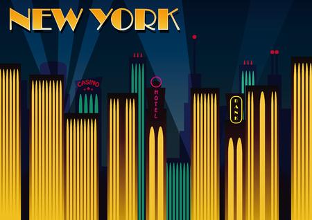 chrysler building: New York city. Vector illustration Illustration
