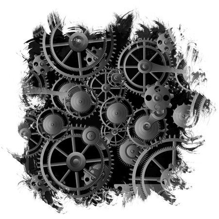 mechanism: Background metallic with technology gears