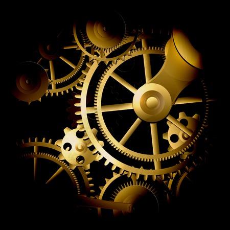 metallic: Background metallic with technology gears