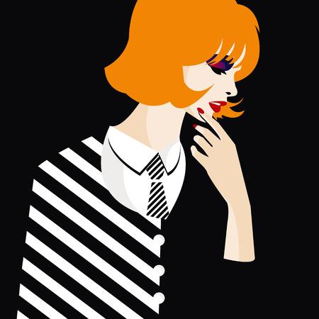 Fashion teenage girl illustration
