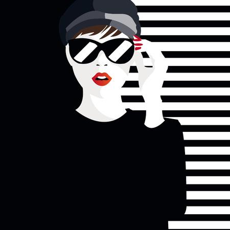 teenage girl: Fashion teenage girl illustration
