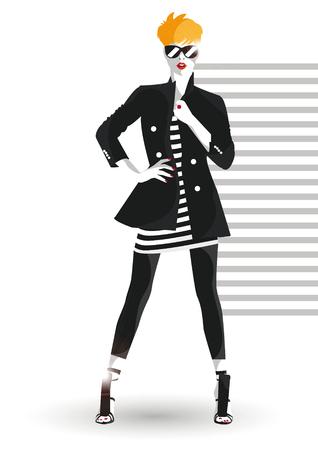 The young beautiful girl illustration Vektorové ilustrace