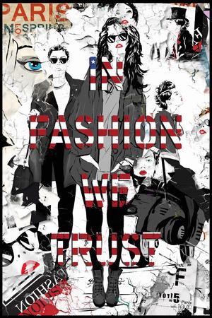 mujeres fashion: cita de la moda con la chica moderna. grunge ilustración