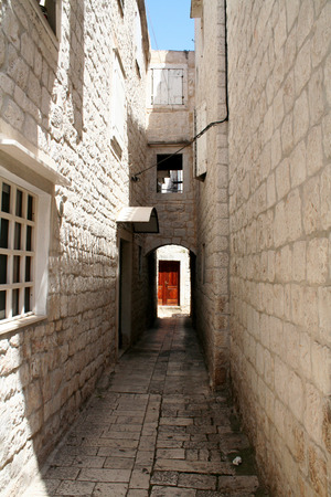 old town: Croatia - Trogir in Dalmatia. Old town detail.