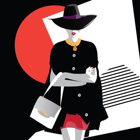 Fashion tienermeisje in de stijl van pop art. vector illustratie Stock Illustratie