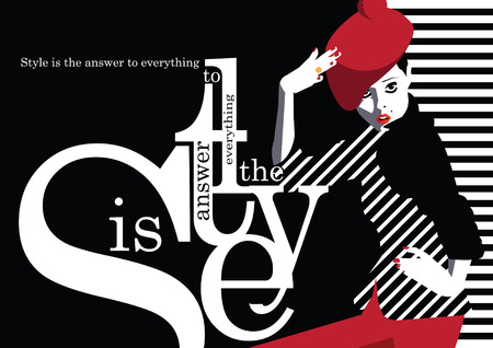 adolescent sexy: Fashion quote with fashion woman. Vector illustration