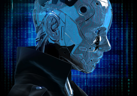 cybernetics: Cyborg the girl in a raincoat.