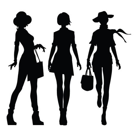 siluetas de mujeres: Negro siluetas de mujeres hermosas