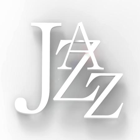 Jazz poster. 3D illustration