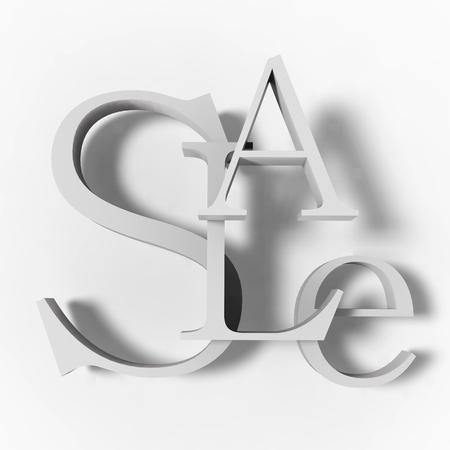 Sale Sign. 3D Sale Label. Stock Photo