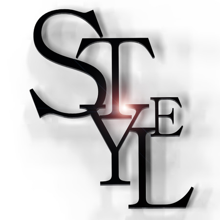 spells: Style Sign on the whiye background.