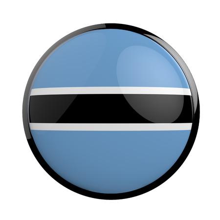 botswana: Round icon flag of Botswana. Stock Photo