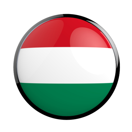 pictograph: Round icon flag of Hungary. Stock Photo