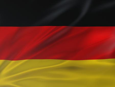 Beautifully waving flag of Germany. 3d Illustration