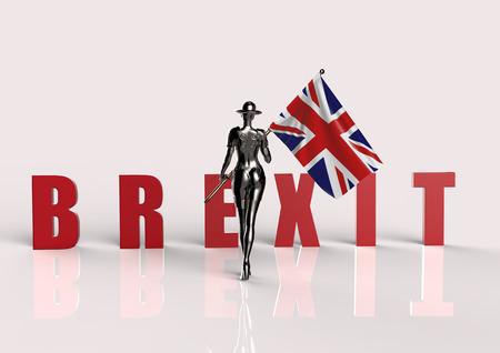referendum: 3D illustration. The stylish cyborg the woman.