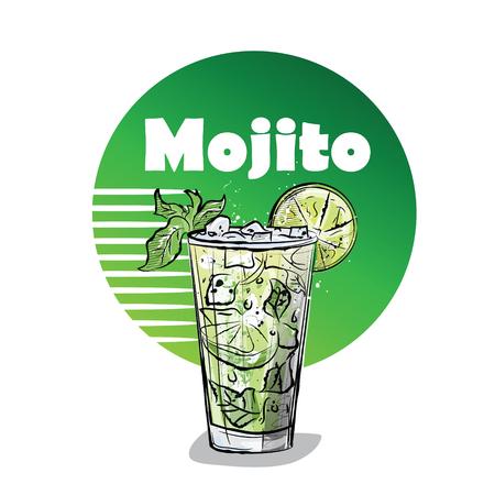 Illustrazione a mano di cocktail.