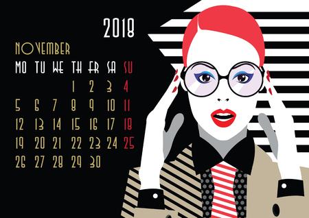 November 2018 calendar icon.