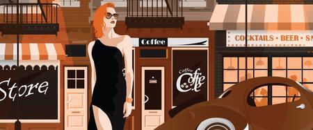 Moda donna in stile pop art. Archivio Fotografico - 94464464