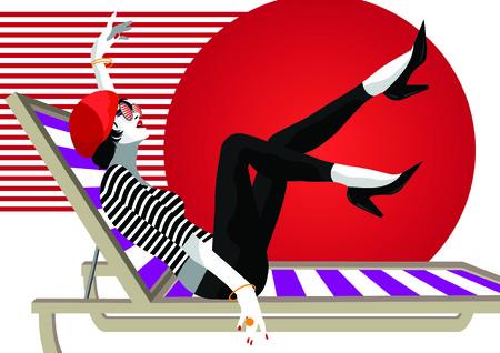 Mujer de moda en estilo pop art. Ilustración vectorial Ilustración de vector