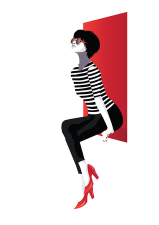 Fashion woman in style pop art . Vector illustration