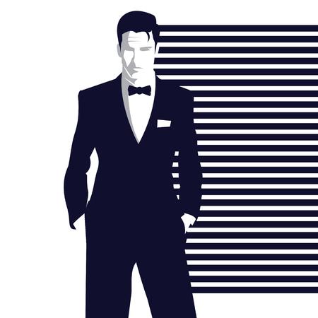Moda uomo in stile pop art. Illustrazione vettoriale