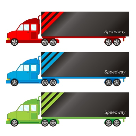 convoy: Confezione di veicolo - grande camion Vettoriali