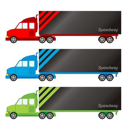 Vehicle pack - big truck Stock Illustratie