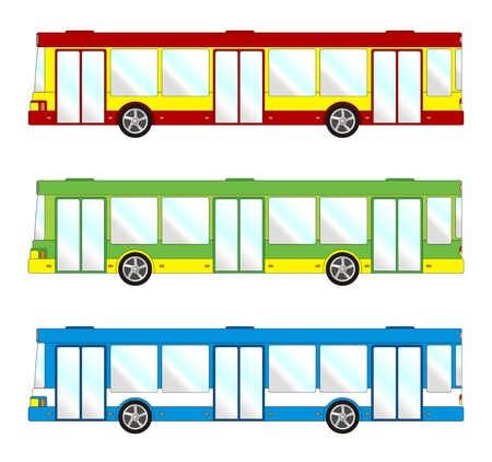 Vehicle pack - short bus Vector
